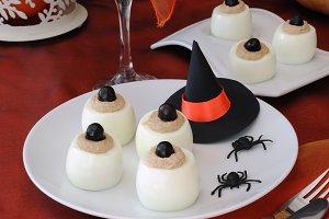 Funny eye eggs on Halloween