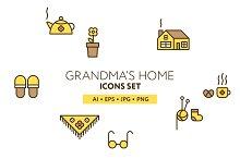 Grandma's Home Icon Set