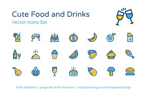 275+ Cute Food and Drinks Icons