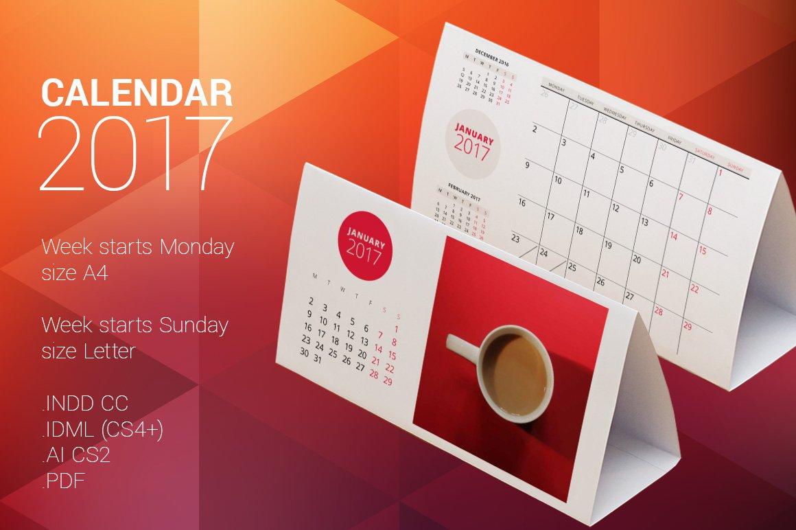 Table Calendar Size : Desk calendar stationery templates creative market