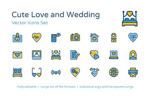 125+ Cute Love and Wedding Icons