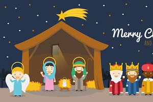 Nativity scene for Christmas