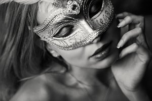 woman in the mask