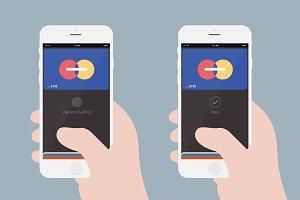 Apple Pay Flat Illustration