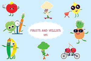 Fruits and Vegetables set