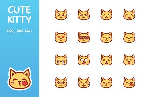 Cute Kitty Emoticon