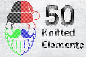 Christmas & Winter Knitted Element
