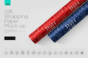 Gift Wrapping Paper Mock-up
