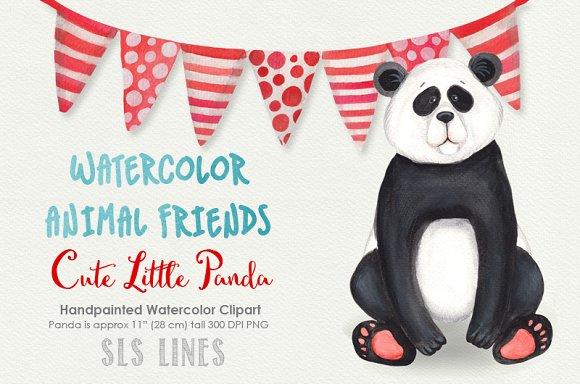 Panda Bear Watercolors