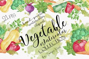 Vegetable Watercolor Collection
