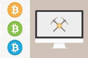Bitcoin Icons & Bitcoin Mining
