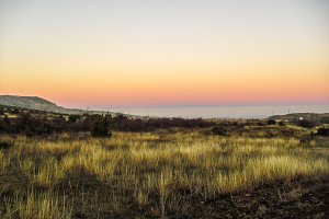 Sunset line landscape