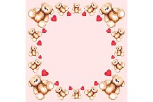 Cartoon lovely Teddy Bear toy frame