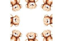 Cartoon lovely Teddy Bear toy frame