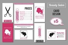 Beauty Salon services cards design