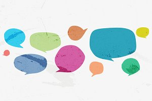 21 Vector Speech Bubble shapes