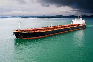Bulk transport carrier with storm
