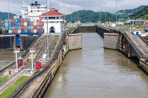 Gates of Pedro Miguel Locks