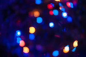 New year bokeh background