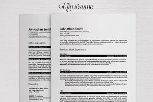 Klin • Professional realistic resume
