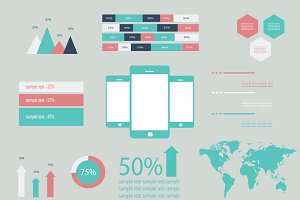 Info graphic technology mobile