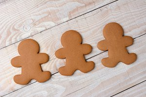 Gingerbread Cookies Undecorated