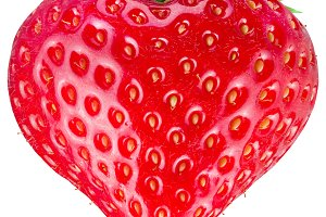 Strawberry heart.