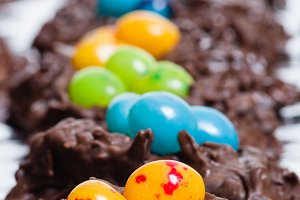 Chocolate Easter candy jelly beans