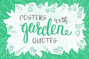Inspirational garden quotes posters