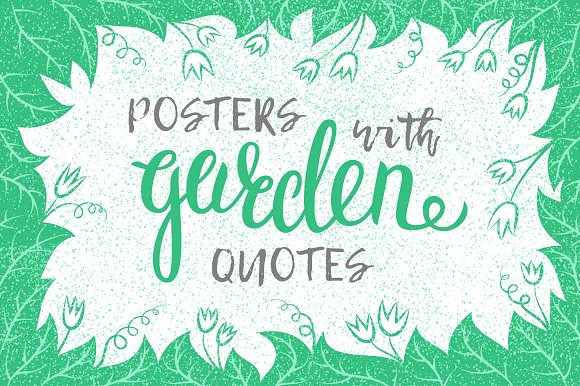 Inspirational garden quotes posters ~ Graphics on Creative ...
