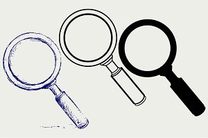 Magnifying glass SVG