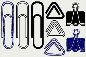 Paper clip SVG