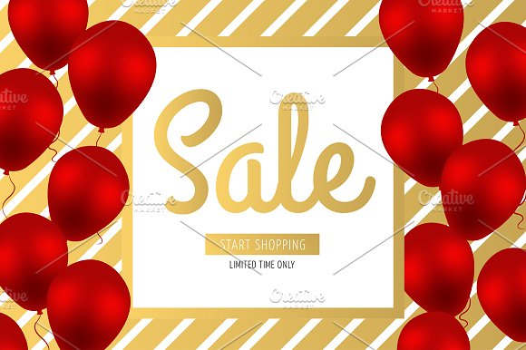 Sale banner. Start shopping.