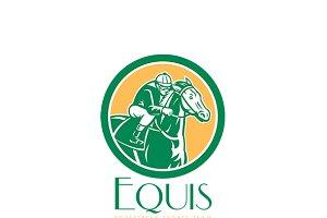 Equis Equestrian Sports Team Logo