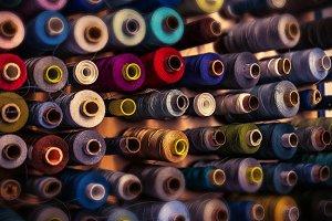 colored yarn roll