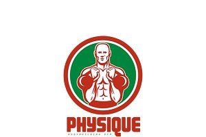 Physique Bodybuilding Gym Logo