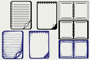 Paper with notebook SVG