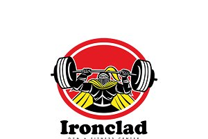 Ironclad Gym Fitness Center Logo