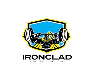 Ironclad Bodybuilding Logo