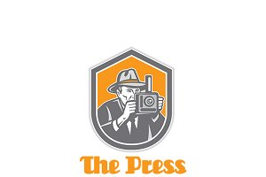 The Press Film Photography Logo