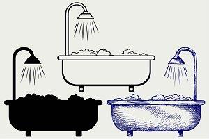 Bath with foam 2