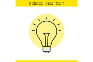 Good idea linear icon. Vector