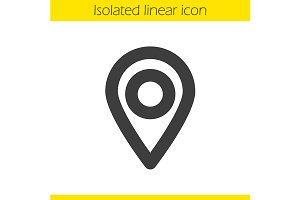 Pinpoint linear icon. Vector