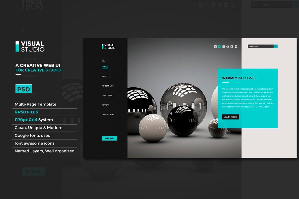 Creative Studio | Website UI PSD ~ Website Templates ~ Creative Market