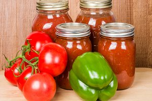 Tomato sauce with pepper and tomato