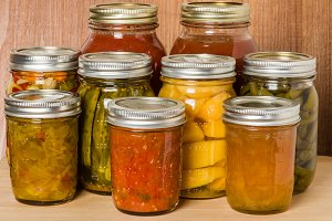 Homemade preserved food