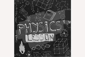 Physics Chalkboard Background