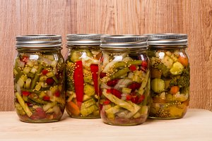 Bean salad and pickles