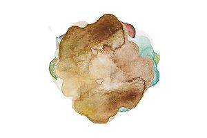 abstract watercolor blot