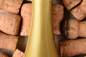 Closeup Champagne Bottle Corks